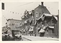 Corner of Main & South Streeta. The Court House now stands here.