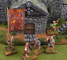 Our Lords Command           Post, my round 1 entry in the Lead Painters League, features a           28mm Anglo-Saxon command group
