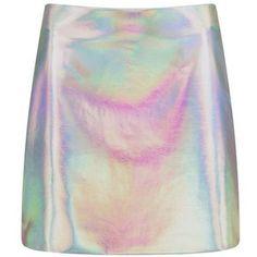 Nasty Gal Arianna Holographic Mini Skirt