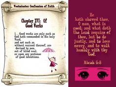 Tumblr Westminster Confession, Micah 6 8, Reformed Theology, Whats Good, Confessions, Lord, Faith, Teaching, Education