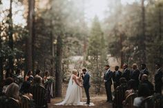 """""""Our wedding was all about being somewhere new and exciting with our favorite people in the world. We wanted it to be laid back and fun and we wanted our friends and family to experience a place they had never been. We really didn't spend a whole lot of time 'styling', because we wanted to spend our time there hiking and exploring and creating memories.""""- the bride.   Image by Erin & Geoffrey Photography"""