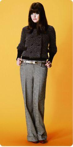 tweedy knit jacket tweedy pants