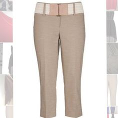 Plus Size Maurice's Khaki Capri Plus Size 24 Maurice's Khaki Capri with cream colored belt. Never worn.  Fits true to size. Maurices Pants Capris