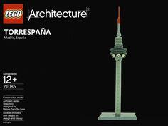 lego architecture madrid torre españa