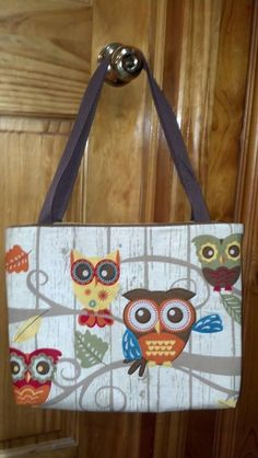 OWL TOTE BAG by thatsewbeth on Etsy-SOLD