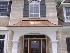 copper roofing over bay windows | Custom Copper Hoods Bay Window Hood Copper Standing Seam Roofs