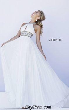 Sherri Hill 11251 Prom Long Pleated White 2016 Skirt Gown
