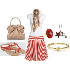 Very Comfy and Cute Beach outfit! Nautical :)