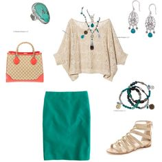 Turquoise Skirt Look #2