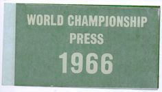 Unused Press car windscreen sticker, 1966 World Cup Finals l○