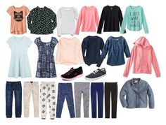 A Girl's Back-to-School Capsule Wardrobe. Transitioning from Summer to Fall Capsule Wardrobe.