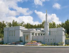 Anchorage Alaska Temple - a small but beautiful temple in the parking lot of a stake center.  This is how light it was when we came out at 10:00 PM!