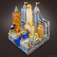 This is a remake of an earlier build, now with 3 times your recommended daily intake of pearl gold bricks. Pearl gold comes in so many useful shapes for microscale building it's hard to resist the Midas touch . #lego #legoart #legoarchitecture #legostagram #legoideas #architecture #diorama #toyphotography #toyartistry_lego #cityscape #afol #legomoc #legomania