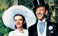 """Judy Garland & Fred Astaire,  on the avenue ,  in """" Easter Parade"""" #1"""