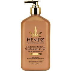 Hempz Cinnamon Sugar & Vanilla Butter Creme Limited Edition Herbal After Tan and Daily Body Moisturizer Natural Hair Mask, Natural Hair Styles, Hempz Lotion, Body Lotion, Smell Good, Makeup Yourself, Skin Care Tips, Healthy Skin, Whitening
