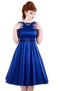 Cobalt Blue Hepburn, 50's Dress