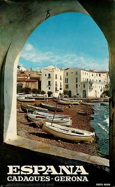 DP Vintage Posters - Cadaques Gerona Original Spanish Travel Poster