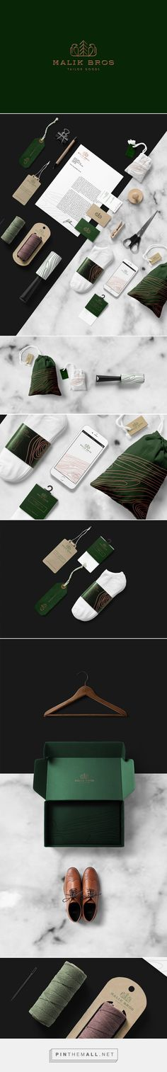 Art direction, branding and packaging for Malik Bros Tailor Goods on Behance by…