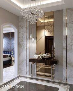 Living Room Wall Designs, Decor Home Living Room, Luxury Home Decor, Luxury Interior Design, Hotel Lobby Design, Townhouse Interior, Home Entrance Decor, Batangas, Foyer Design