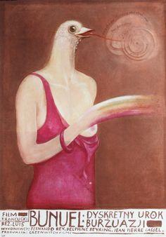 Discreet Charm of the Bourgeoisie.  Original Polish movie poster.