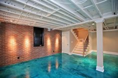 Stained Concrete Floor... Got an unfinished basement?!