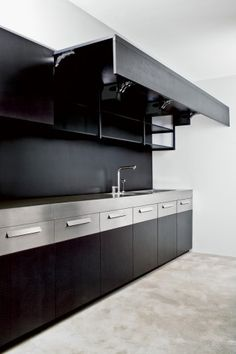 Extra large cabinets in the Weiss Contemporanea kitchen.