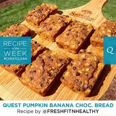 Celebrate the joyful flavors of Autumn with this delicious combination of chocolate, banana, and pumpkin. Macros per loaf (makes 8): Calories: 195. Protein: 12g. Net Carbs: 8g. Fat: 7g.