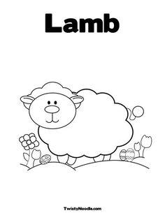 Lamb Coloring