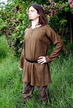 Tunic of Birka, Early Medieval Scandinavian tunic, Viking tunic  form Birka, Historical Pattern , for Viking Reenactors, Viking Costume