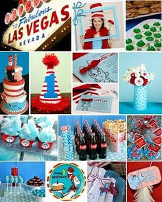 Tons of fun inspiration for Dr Seuss party #seuss #party