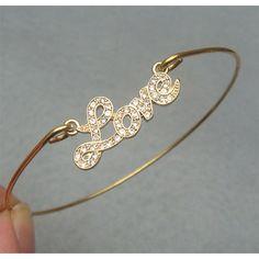 Lovely Love Bangle Bracelet