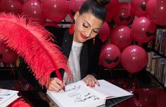 Giovanna Battaglia at the Gio_Graphy book signing in Milan