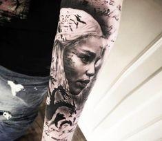 Khaleesi tattoo by Mark Wosgerau