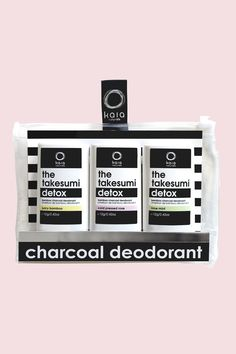 Bamboo Charcoal Deodorant Mini Trio Kit (Obsessed with this Canadian company) #DETOX your ARMPITS! Seriously! #organic #aluminumfree #skincare