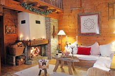 A lovely rustic ski chalet in the French Alps.