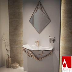 Diamond Wall Mounted Sinks by Berk Aril A design award