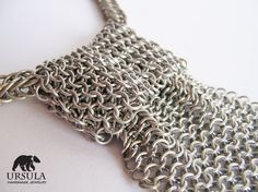 Chainmail Necktie Chainmaille Aluminium Neck by UrsulaChainmaille, $95.00  I might have to make this!