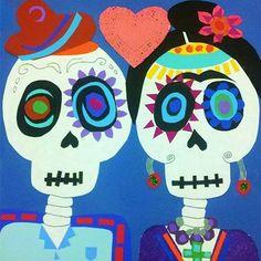 Día de los Muertos Frida Kahlo Collage