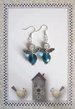 Photo: Adorables boucles d'oreilles petits anges bleus disponible dans mes boutiques www.alittlemarket.com/boutique/LilasBee fr.dawanda.com/shop/LilasBee