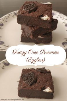 Today I am sharing with you the recipe for our favourite oreo brownies. We love eating brownies and adding oreos to them make them even more delicious as we discovered recently. 'National Brownie D… Fudgy Brownie Recipe, Oreo Fudge, Brownie Ingredients, Oreo Brownies, Oreo Recipe, Oreo Cheesecake, Pumpkin Cheesecake, Chocolate Brownies, Oreo Cake Recipes