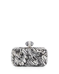 V2F1R Judith Leiber Couture New Soap Dish Crystal Clutch Bag, Silver Multi