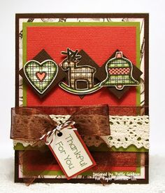 Paper Sweeties designed by Pattie Goldman using Homespun Holidays and Season of Love stamp sets from www.papersweeties.com.