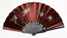 Asian Painted Satin And Tortoise Shell Fan