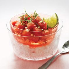 Watermelon+Salad+with+Mint+and+Lime+Dressing  - Delish.com