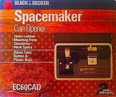 Black Decker Space Saver Under Cabinet Can Opener Vintage New