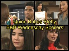 The Bold and the Beautiful (B&B) spoilers for Wednesday, November 9, tease that Quinn (Rena Sofer) will give Steffy (Jacqueline MacInnes Wood) a tempting offer.