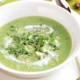 Komkommersoep met broccocress