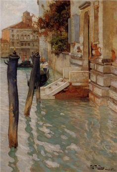 Frits Thaulow (Norwegian, 1847-1906) On the Grand Canal, Venice                                                                                                                                                      More