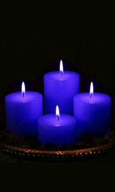A blue candles magic soothes relaxes. It is a spiritual color used to obtain wisdom and harmony. Burning one can provide protection, understanding patience. It promotes happiness, aids in meditation by connecting to intellect mind, and treats insomnia. Blue Candles, Candle Lanterns, Pillar Candles, Floating Candles, Azul Indigo, Bleu Indigo, Love Blue, Blue And White, Blue Dream