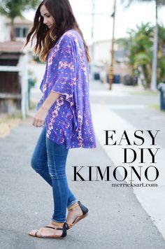 DIY This Pretty Kimono in Less Than 30 Minutes!